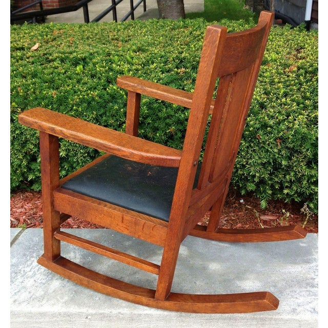 Antique Wakefield Co Mission Child's Rocking Chair - Image 4 of 7