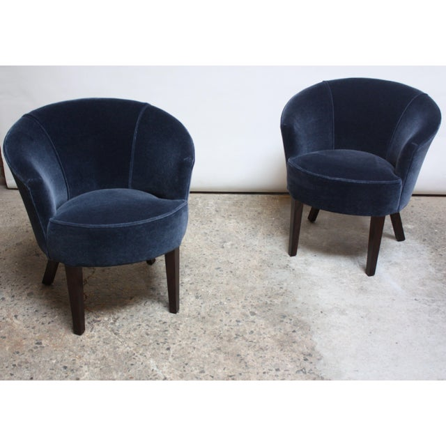 Pair of English George Smith 'Petworth' Tub Chairs in Mohair - Image 5 of 11