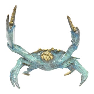 Blue Crab Bronze Sculpture