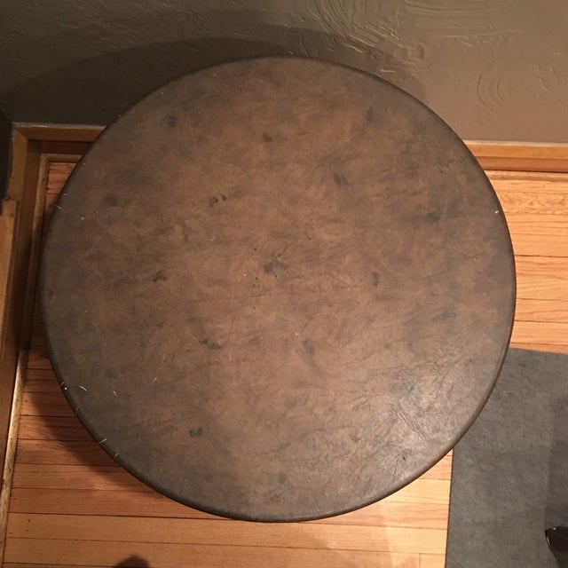 Round Drum Coffee Table