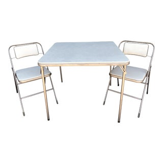 Vintage Samsonite Card Table & Chairs