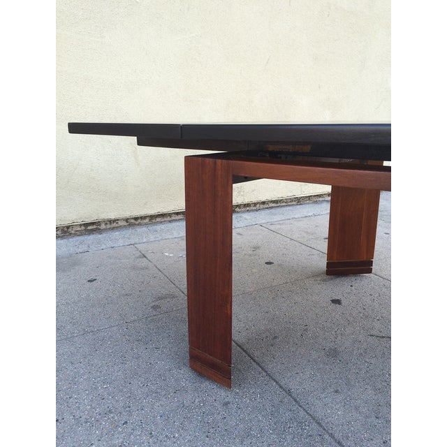 Edward wormley coffee table with extensions chairish for Coffee table extension