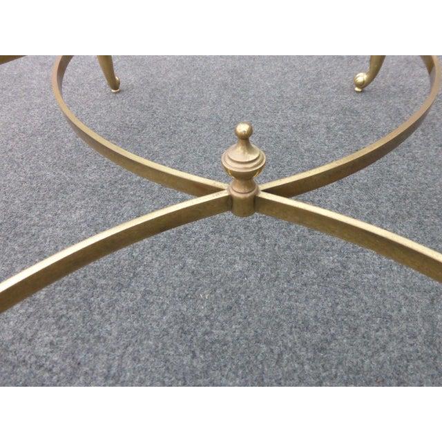 Vintage Maison Jansen Style Mid-Century Octagonal Brass