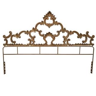 Vintage Gilt Rococo King Headboard