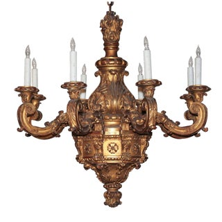 Fine French Giltwood Chandelier