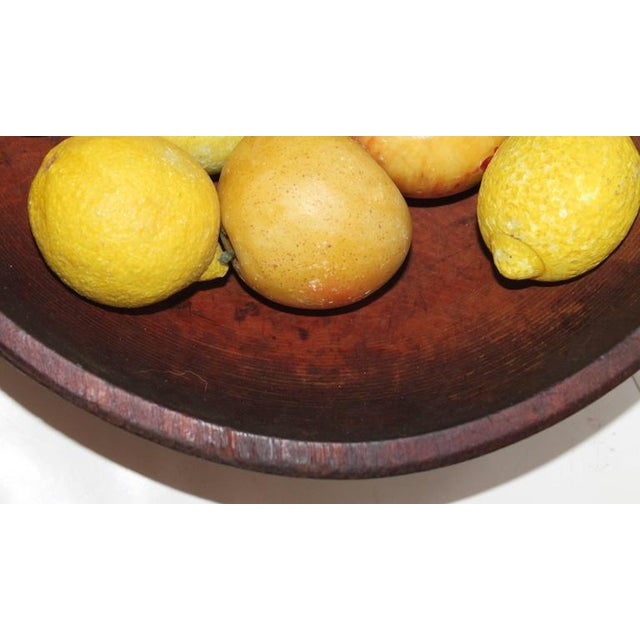 Image of 19th Century Wood Butter Bowl with Collection, 24 Pieces Stone Fruit