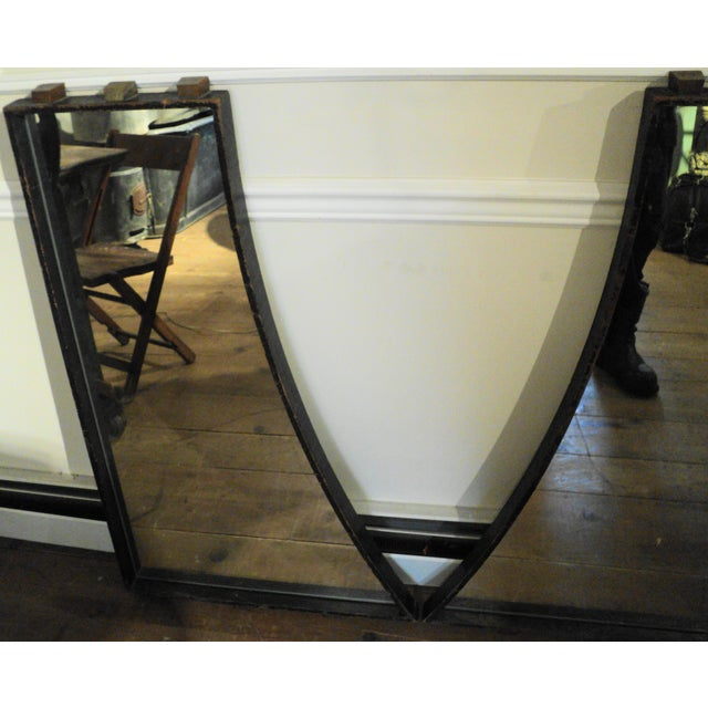 Antique Vintage Industrial Wood Factory Mold Mirrors - A Pair - Image 5 of 11