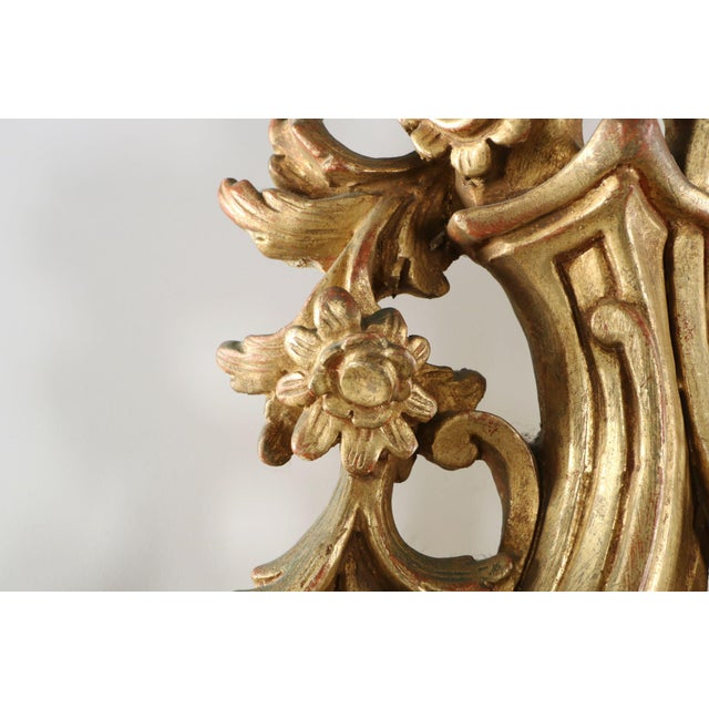 French Louis XV Style Carved Giltwood Antique Mirror - Image 7 of 10