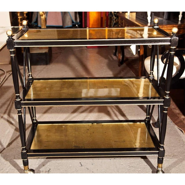 Image of Maison Jansen Three-Tier Serving Cart
