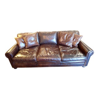 "Old Hickory ""The Original"" Brown Leather Sofa"