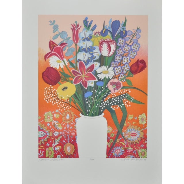 Image of Still Life Lithograph by Beth Van Hoesen C.1993