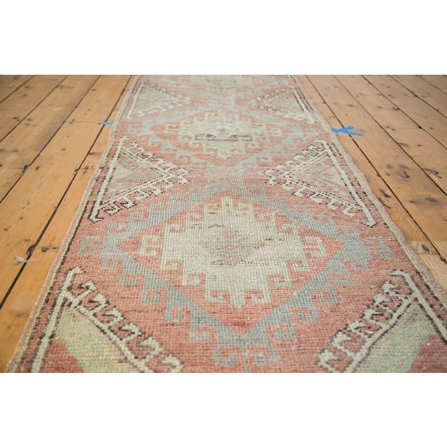 "Distressed Oushak Runner - 2'5"" X 7'5"" - Image 2 of 7"