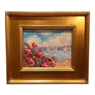 Sarah Kadlic Pink Poppies Original Oil Painting