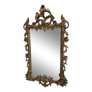 Antique Hand Carved Rococo Gold Gilded Mirror