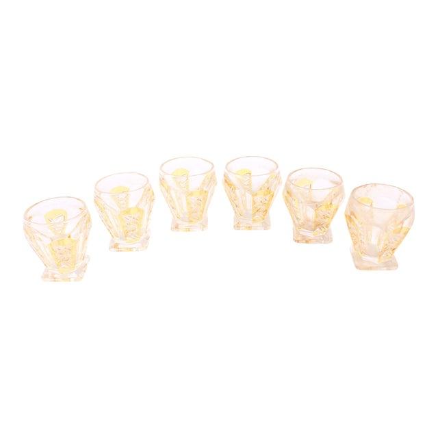 Image of German Crystal Cognac Glasses - Set of 6
