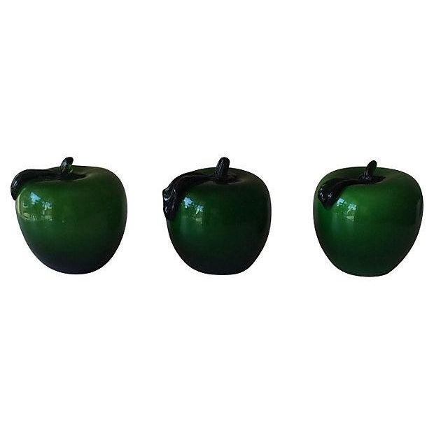 Handblown Apple Paperweights - Set of 3 - Image 2 of 3