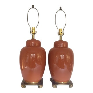 Chinoiserie Ginger Jar Style Lamps - A Pair