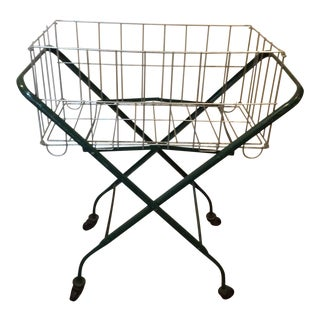 Vintage Metal Laundry Cart