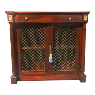 Empire Mahogany Mesh Door Bar Cabinet