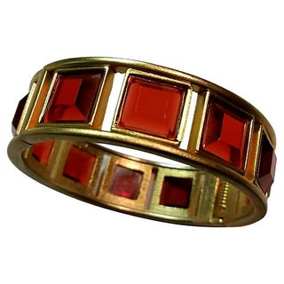"Orange ""Window Pane"" Clamper Bracelet"