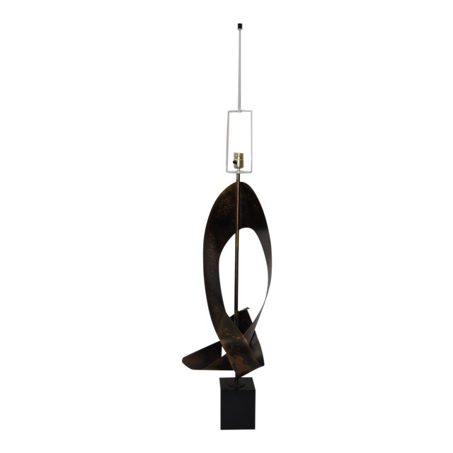 C.1960s Harry Balmer Sculptural Steel & Bronze Lamp - Image 1 of 9