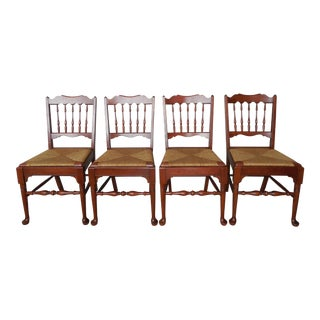 Pennsylvania House Candle Light Finish Banister Back Side Chairs - Set of 4