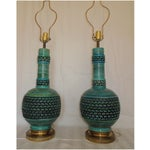 Image of Vintage F.A.I.P. Chalkware Table Lamps - A Pair