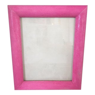 Hot Pink Shagreen Frame