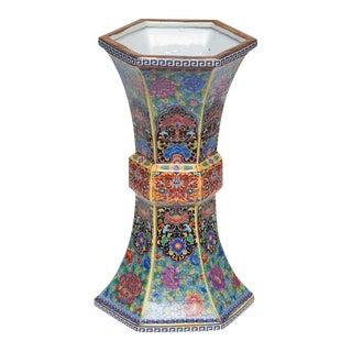 Cloisonne Style Porcelain Vase