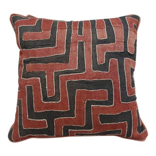 African Square Cloth Kuba Pillows - A Pair
