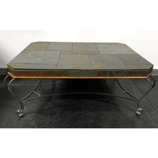 Drexel Heritage Et Cetera Slate Metal Coffee Table Chairish