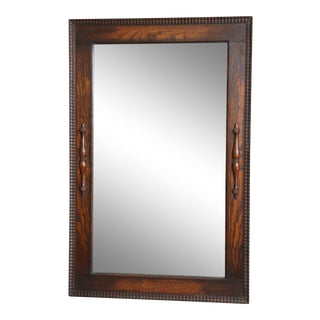 1910 English Oak Beveled Mirror
