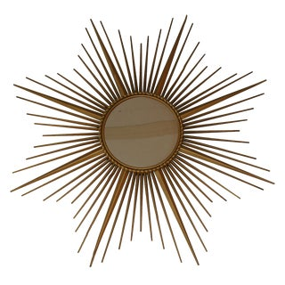 French Vintage Chaty Sunburst Mirror