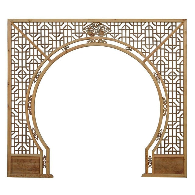 Chinese Arch-Shaped Wooden Panels - Set of 3 - Image 9 of 9