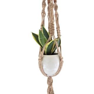 Boho-Chic Jute Macrame Plant Hanger