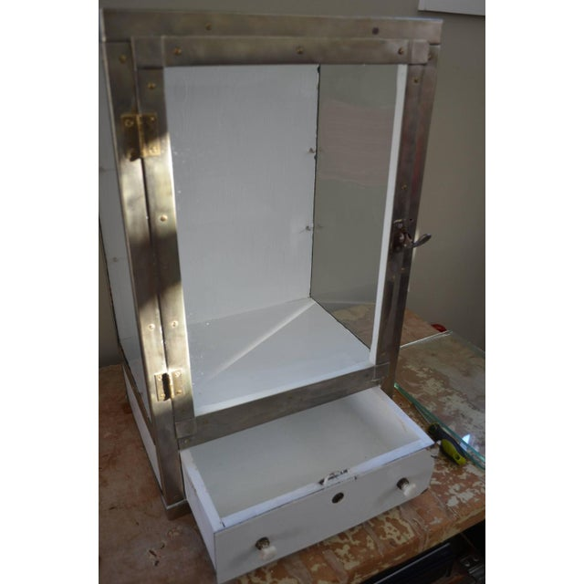 Barber Shop Cabinet With Glass Sides & Shelves - Image 10 of 10