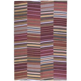 Handmade Flatweave Rug - 6'x9'