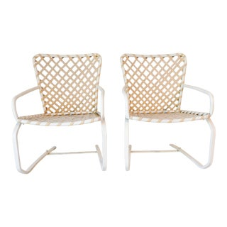 Brown Jordan Patio Poolside Furniture Flex-Spring Chairs - a Pair