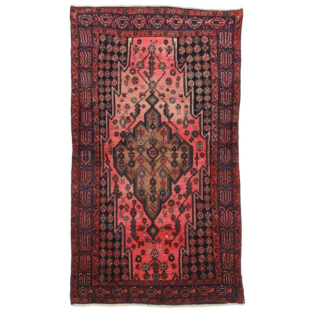 Vintage Persian Hamedan Wool Rug - 3′10″ × 6′10″ - Image 1 of 2
