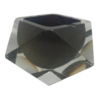Italian Murano Mandruzzato Glass Ashtray