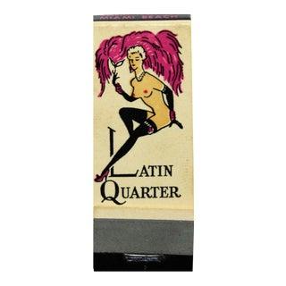 The Latin Quarter Nightclub Matchbook