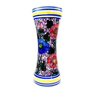 Vintage Hand Painted Floral Ceramic Vase
