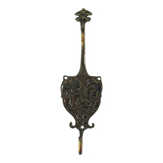Brass Wall Hook with Horse and Rider