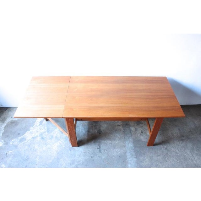 Image of Mid-Century Swedish Drop Leaf Teak Dining Table