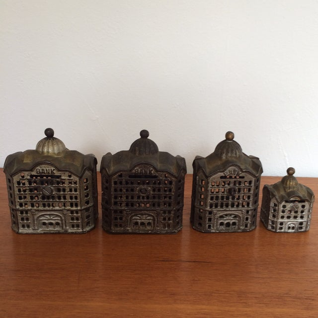 Antique Cast Iron Banks - Set of 4 - Image 8 of 8