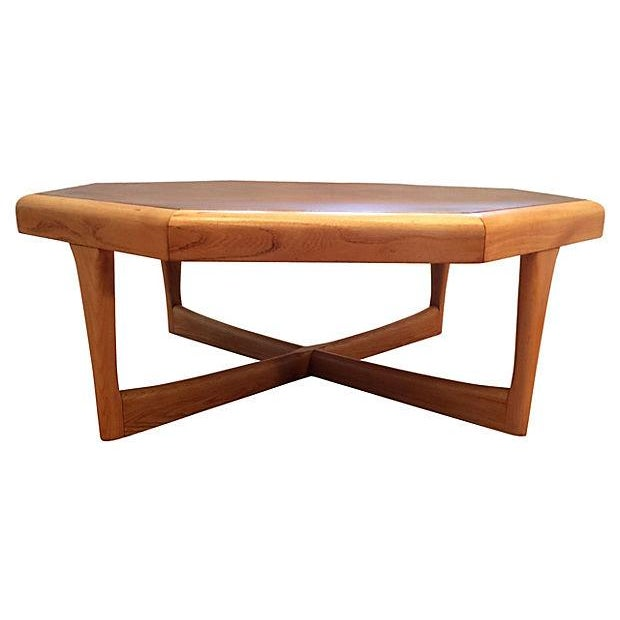 Lane furniture octagonal coffee table chairish for Octagon coffee table