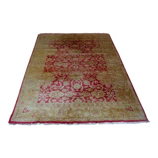 "Red and Gold Chobi Area Rug - 12'1"" X 8'9"""