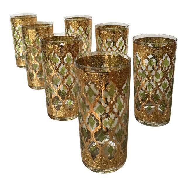 Vintage culver valencia glass tumblers set of 7 chairish - Vintage valencia ...