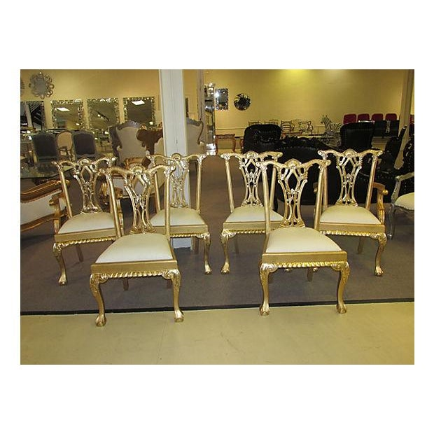 Gold Dinning Chairs - Set of 6 - Image 3 of 6