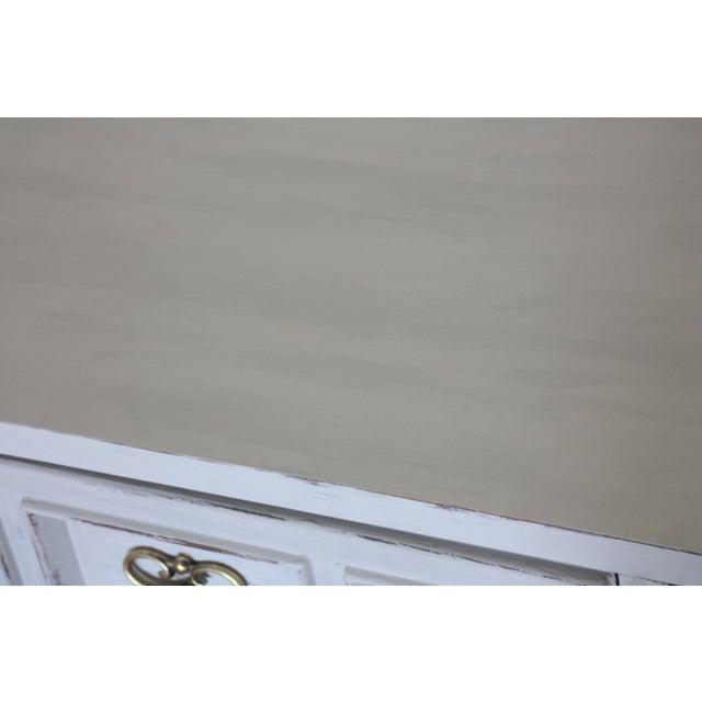 Carved Wood Detailed Gray Dresser - Image 5 of 11